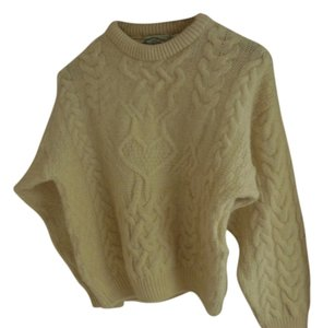 Aran Crafts Ireland Hand Knit Fisherman Irish Wool Sweater