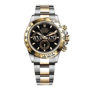 Rolex Rolex Cosmograph Daytona Steel 18K Yellow Gold Watch Black Dial