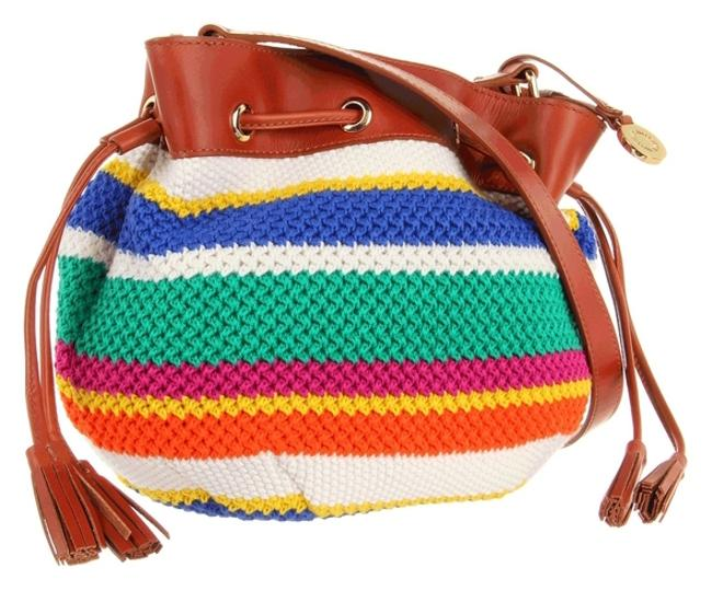 Item - Multi-color Leather Messenger Bag