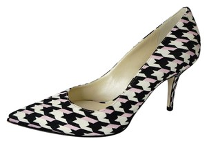 Dior Check Sd443044232 New In Box Pointed Toe White/Black/Pink Pumps