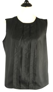 Piazza Sempione Balck Silk Top Black
