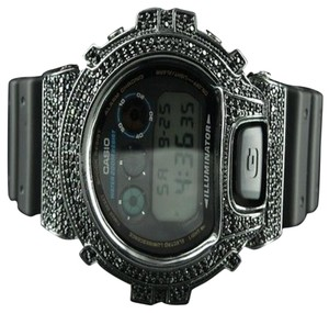 G-Shock Mens G Shock Watch Dw6900 Classic Black Iced Out Simulated Diamond