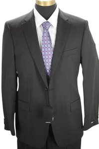 Hugo Boss Paolini movio Wool Suit size 40L $795 2 button NWT black pinstripe