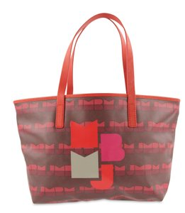 Marc by Marc Jacobs Coated Canvas Mbmj Shopper Logo Tote in Red