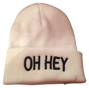 d79297c011b0f American Eagle Outfitters New American Eagle Outfitters Beanie Cap Hat  White Oh Hey