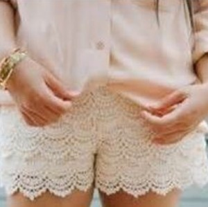 Urban Outfitters Dress Shorts Cream