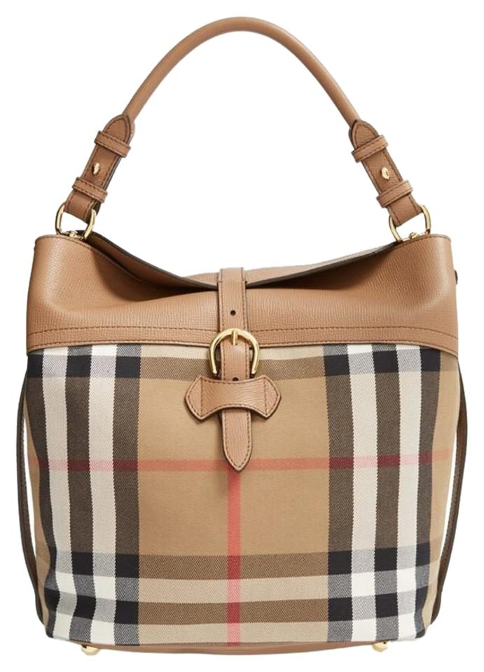 burberry medium sycamore house check hobo bag on sale 34 off hobos on sale. Black Bedroom Furniture Sets. Home Design Ideas