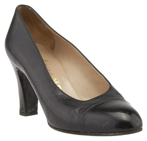 Chanel Leather Size 36 Black Pumps