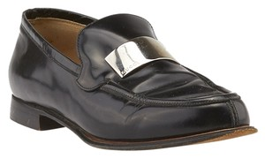 Gucci Leather Loafers White Black Formal