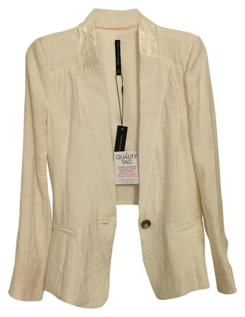 W118 by Walter Baker Cute Top Dressy Ivory Blazer