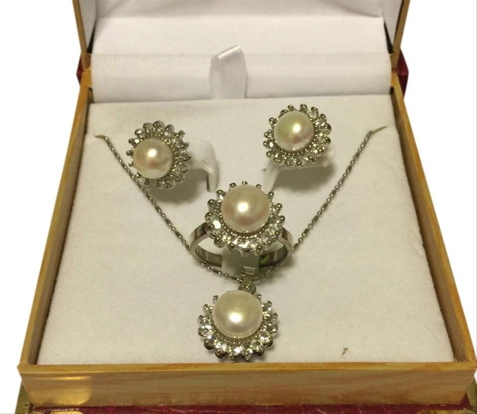 Nordstrom Genuine Fresh Water Pearl Jewelry Set Brand New In Box ...