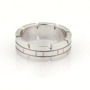 Cartier Cartier 18k White Gold Tank Francaise Band Ring