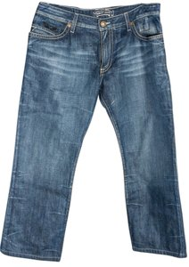Robin's Jean Mens Embellished Cross Pockets Relaxed Fit Jeans-Medium Wash