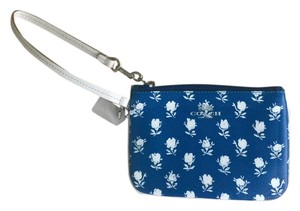 Coach Wristlet in Blue/White