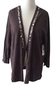 Jones New York Cardigan Embellished Sweater