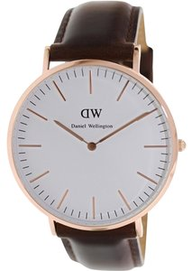 Daniel Wellington Daniel Wellington 0109DW Men's Bristol Eggshell Rose Gold Analog Watch
