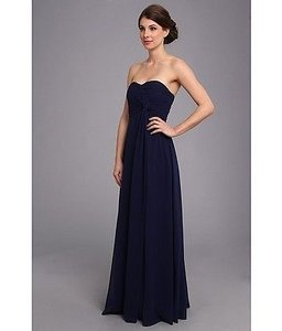 Donna Morgan Midnight Blue Chiffon Lisa Formal Bridesmaid/Mob Dress Size 8 (M)