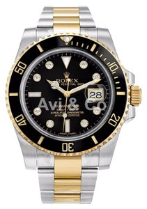 Rolex Rolex Submariner Stainless Steel Yellow Gold Watch Diamond Dial 116613