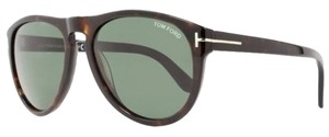 Tom Ford Tom Ford Kurt TF347 56R Havana / Green Unisex Aviator Sunglasses