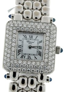 Chopard Chopard 18k White Gold Classique Femme Square watch w/Diamond Bezel