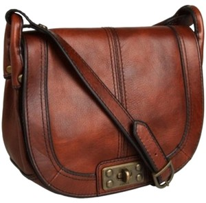 Fossil Vintage Reissue Vintage Revival Flap Saddle Cross Body Bag
