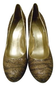 Nine West Multi Gold Platforms