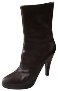 Prada Leather Classic Brown Boots