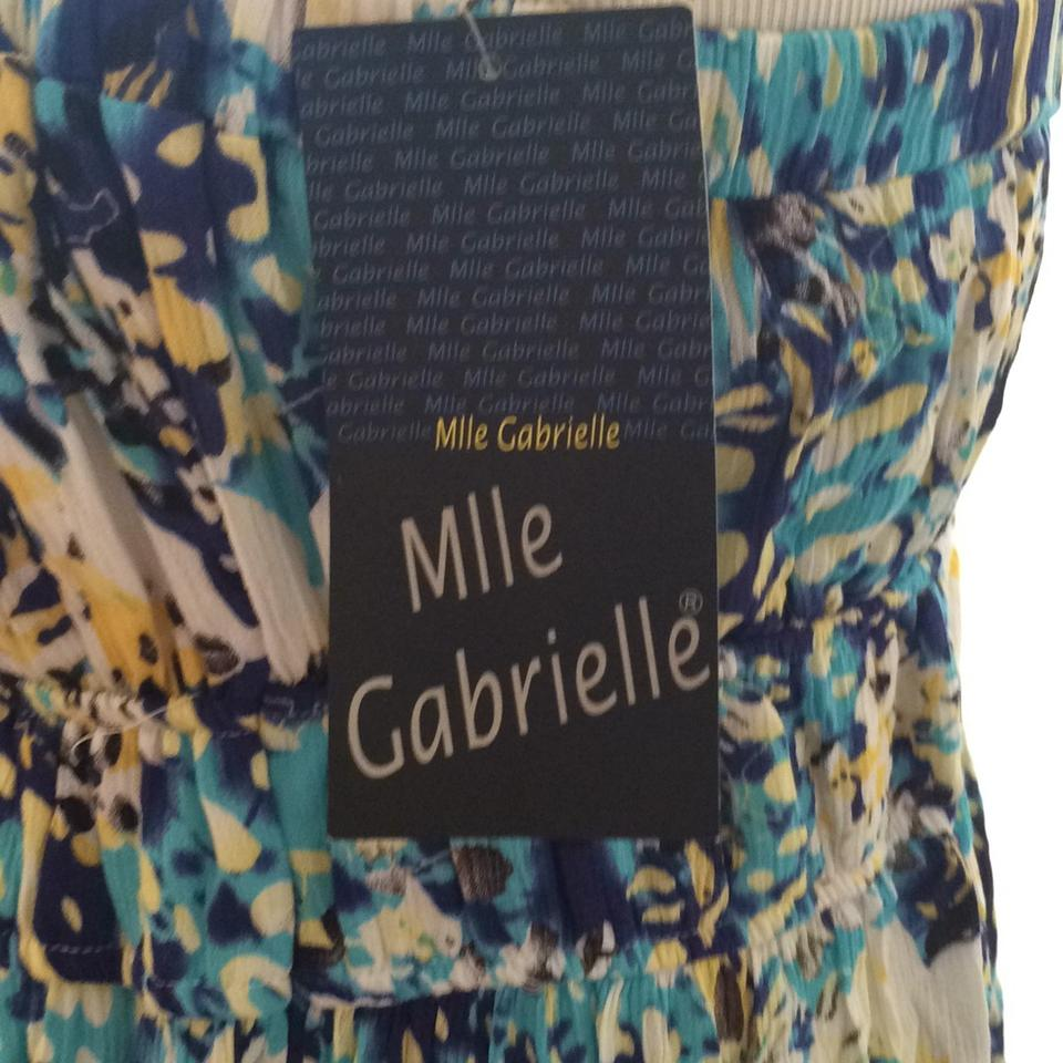 ad80523a2f0 Mlle Gabrielle Blue Yellow White Spotted Strapless Crepe Long Casual Maxi  Dress Size 20 (Plus 1x) - Tradesy