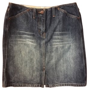 J.Crew Denim Straight Pencil 100% Above Knee Skirt Blue Denim