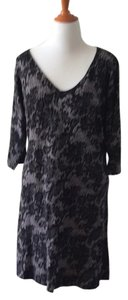 Soft Surroundings short dress Black Lace Lace Knit Tunic Plus-size on Tradesy