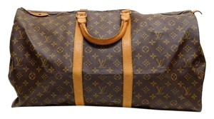 Louis Vuitton Brown Monogram Travel Bag