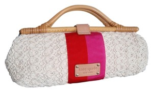 Kate Spade Knit Cotton Bamboo White multi Clutch