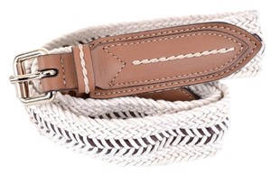 Burberry NEW BURBERRY WOMEN'S $375 GLYN TAN LEATHER WEBBED ROPE BELT~32 80