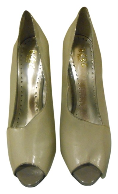 BCBGMAXAZRIA Grey Bcbg Paris - V/Design Slip On Peep Toe Pumps Size US 10 Regular (M, B) BCBGMAXAZRIA Grey Bcbg Paris - V/Design Slip On Peep Toe Pumps Size US 10 Regular (M, B) Image 1