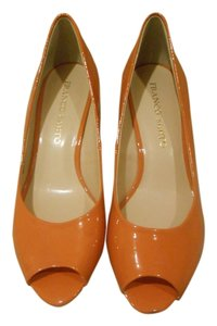 Franco Sarto Orange/Gold Wedges