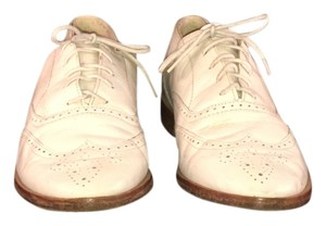 Thom Browne Vintage Tie-up All Leather White Flats