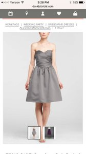David's Bridal Marine (Navy Blue) F15527 Dress