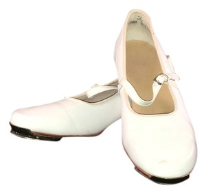 Clogging Buckle-strap Taps White Flats
