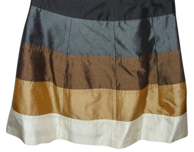 Plenty by Tracy Reese Silk Mini Flair Designer Stripe Skirt