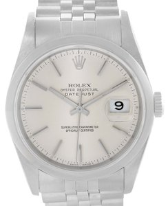 Rolex Rolex Datejust Stainless Steel Silver Dial Mens Watch 16200