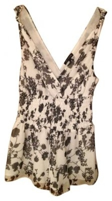The Limited Top Black and White Floral