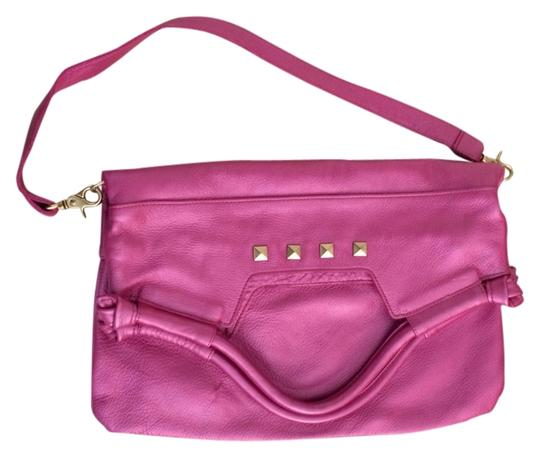 Preload https://item4.tradesy.com/images/foley-corinna-leather-studded-convertible-tote-bag-metallic-pink-1479143-0-0.jpg?width=440&height=440