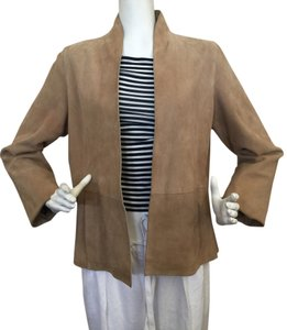 Eileen Fisher Camel Leather Jacket