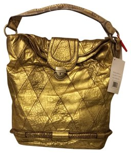 Hype Leather Quilted Braided Hobo Bag