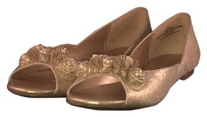 Xhilaration Metallic Open-toe Gold Flats