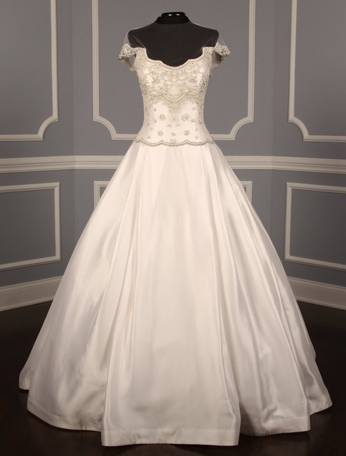 Item - White Gazar and Tulle Fairytale Formal Wedding Dress Size 8 (M)