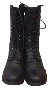 Madden Girl Faux Leather Fall Boot Black Boots