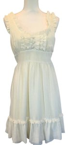 MINKPINK short dress Cream Ruffle Summer on Tradesy
