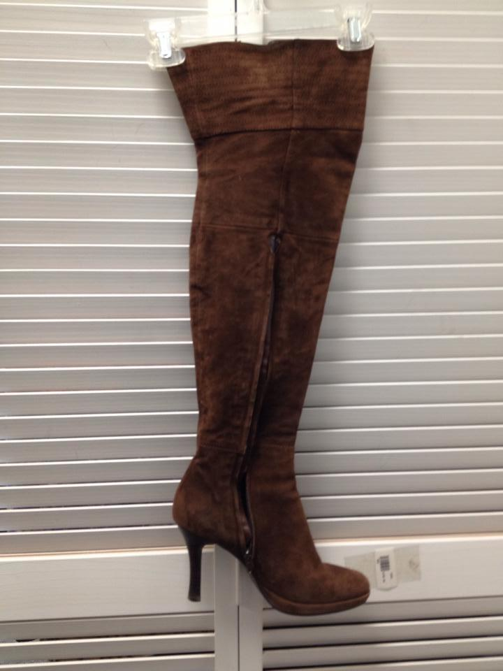 f54f1fea537f Brown Staccato Suede Knee High Boots Booties Size US 10 Regular (M ...