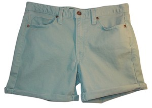 Calvin Klein Belt Loops Cuffed Shorts Seagreen